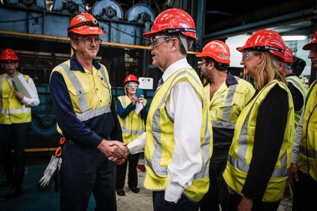 Bill Shorten visits Port Kembla's Blue Scope Steel in