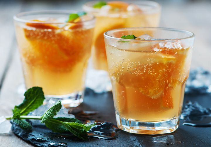 Immune boosting orange juice and ginger make this cocktail practically healthy, right?