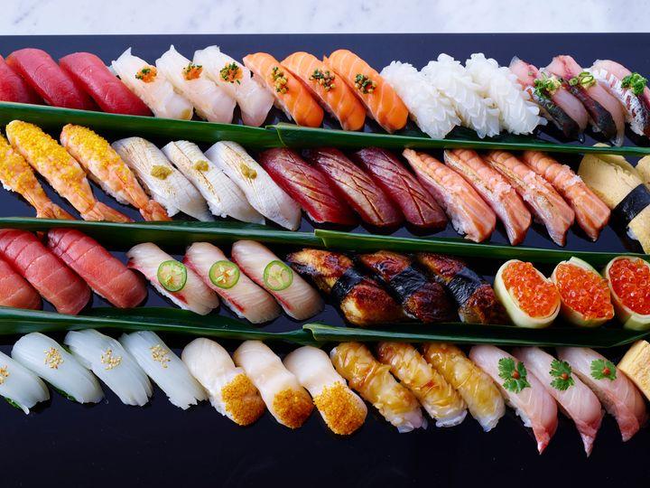Fresh nigiri from Sake, aka the most satisfying thing you've seen all day.