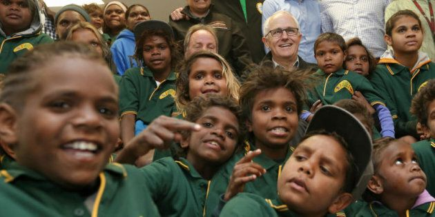Prime Minister Malcolm Turnbull is in there smiling somewhere.