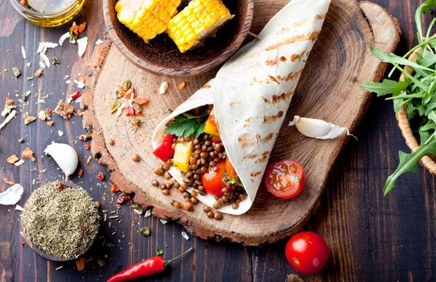 Salad wraps or sandwiches are a good work lunch option which take under five minutes to