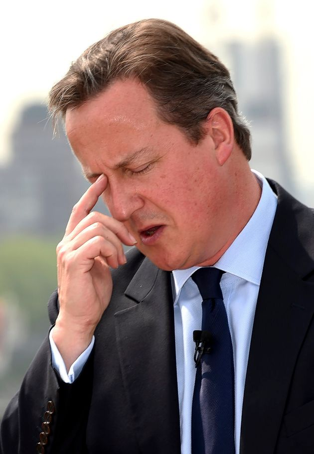 Under Pressure? Britain's Prime Minister, David Cameron, pictured at a press conference on the European...