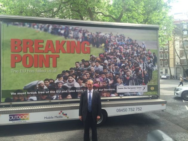 UKIP leader Nigel Farage faced criticism for using refugees fleeing war in Ukip Brexit
