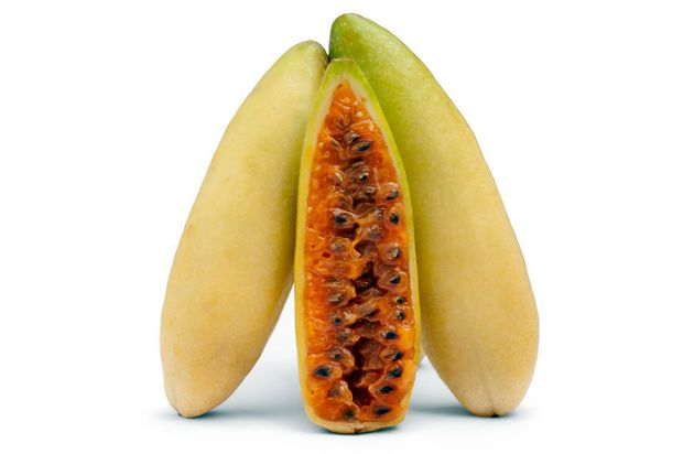 Banana on the outside, passion fruit on the