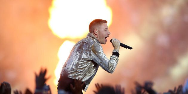 Macklemore was on fire on at the NRL Grandfinal on Sunday night. (Photo by Mark Kolbe/Getty