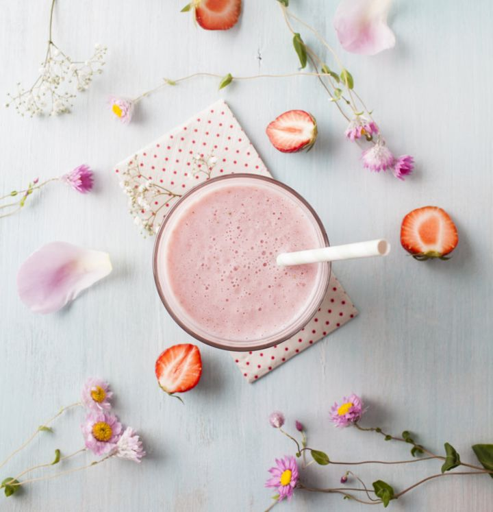 Pack your smoothie with whole fruit and natural protein to help keep you fuller for longer.