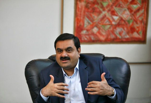 Indian billionaire Gautam Adani -- chairman and founder of the Adani Group -- speaks during an interview...