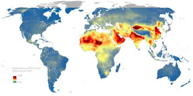 satellite derived PM 2.5