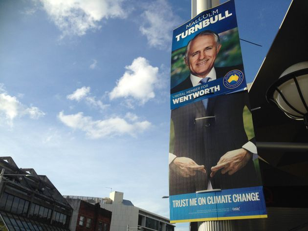 Malcolm Turnbull's Wentworth corflutes with GetUp!'s
