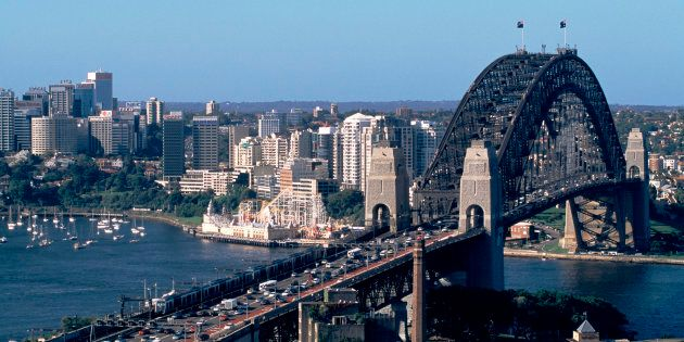 Truckers have converged on the Harbour Bridge for a