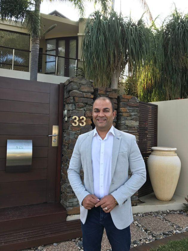 Amir Mian outside one of the Gold Coast properties he's recently