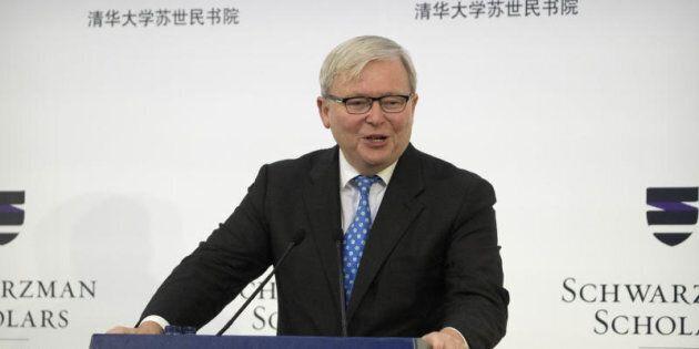 Former Australian Prime Minister Kevin Rudd says Turnbull has