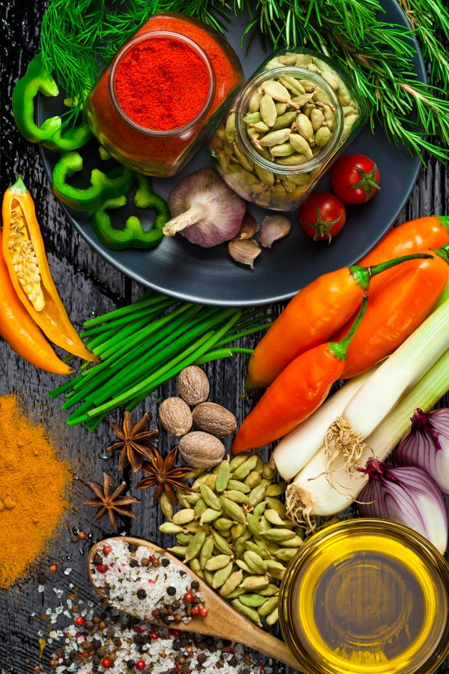 Cook your own fresh meals where possible and use herbs and spices for flavour.