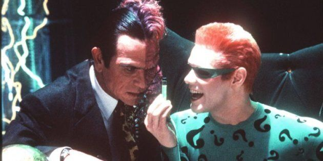 Jim Carrey and Tommy Lee Jones in 'Batman
