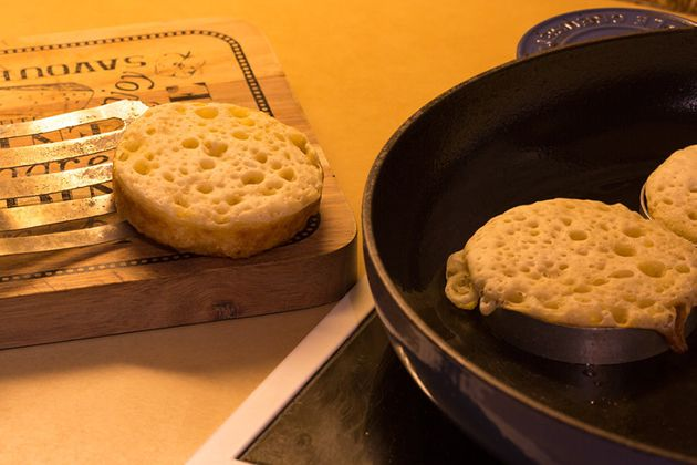 Almost ready for toasting, but if you cave and eat them now, they're still