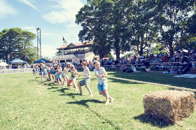 A tug-o-war at Fairgrounds