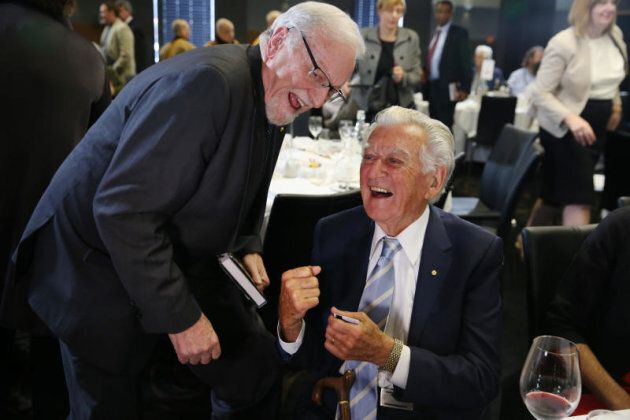 Former Prime Minister Bob Hawke launched the biography of Hawke era minister Gareth
