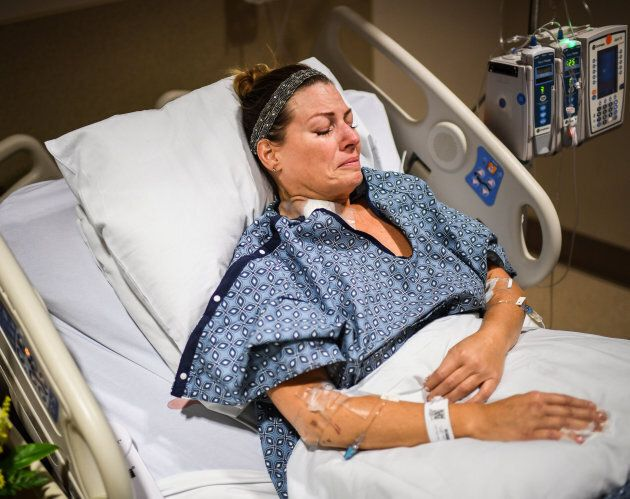 Natalie Vanderstan, 43, was shot in the stomach during the mass
