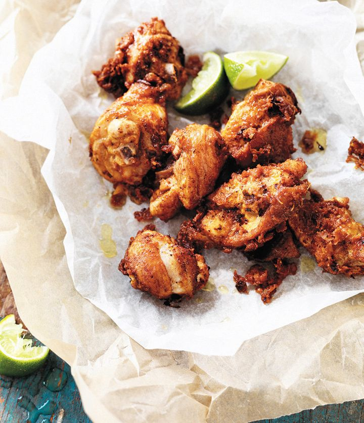 This crispy fried chicken has the perfect balance of salty, zesty and sweet.