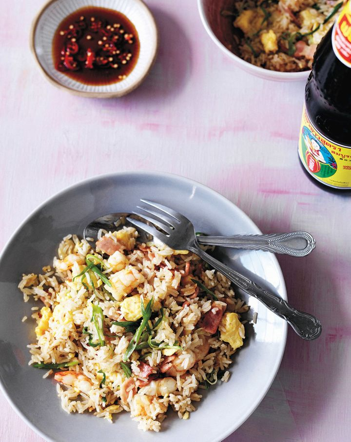 The key to a good fried rice dish is using slightly dried out rice.