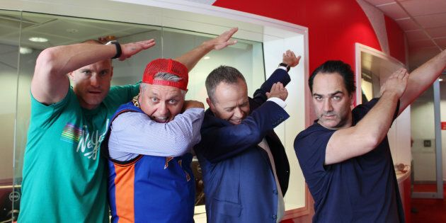 Fitzy, Ray Hadley, Bill Shorten and Wippa try a