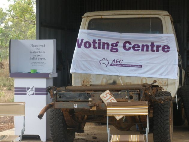 A remote polling booth in