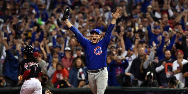 Chicago Cubs first baseman Anthony Rizzo probably won't go to bed very early