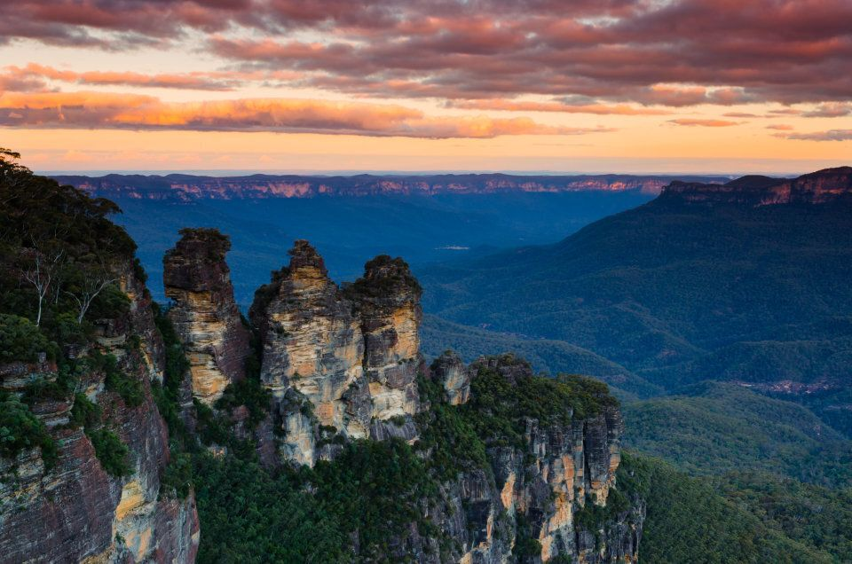 The Three Sisters in the Blue Mountains.