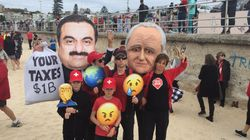 Carmichael Mine Protesters Turn Bondi Beach Into Massive 'Stop Adani'