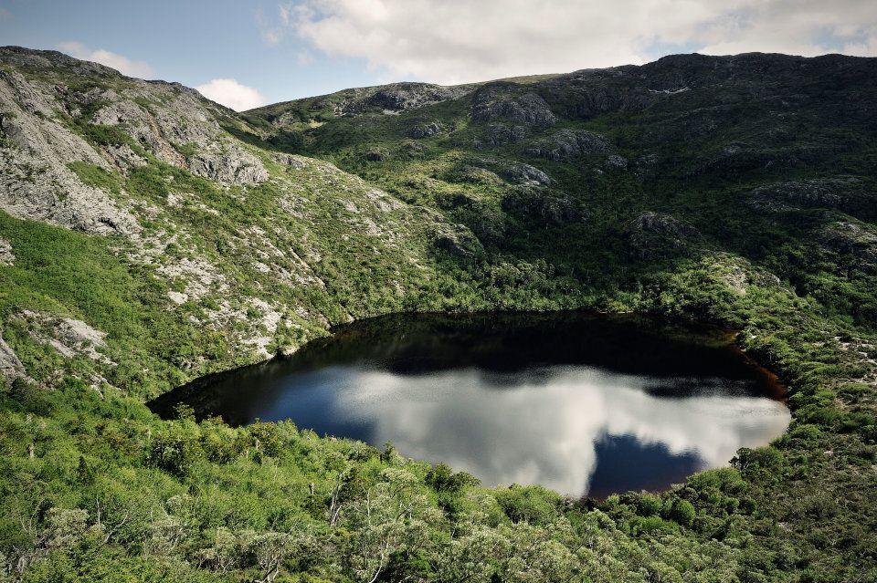 A waterhole by Cradle Mountain.