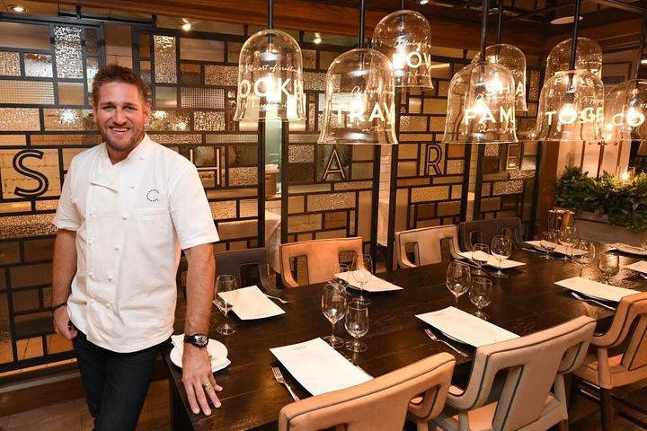Curtis Stone at the opening of his restaurant Share on Princess Cruises.