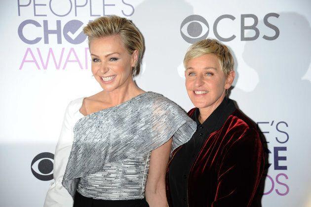 Ellen Degeneres is 15 years older than her wife Portia De