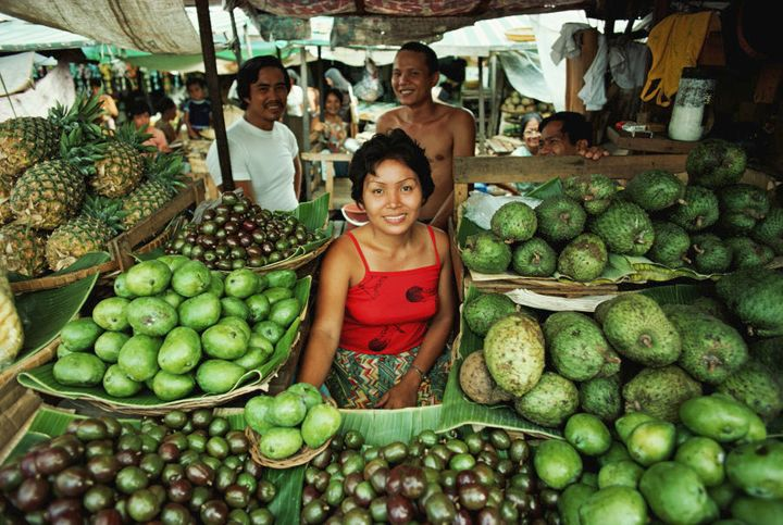Buying fruit in the Philippines is always fun.