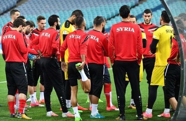Syria at training in Sydney this