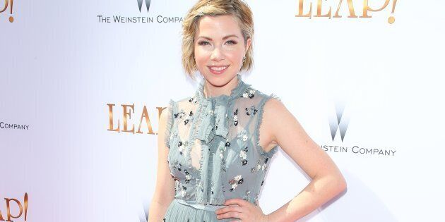 Carly Rae Jepsen attends the premiere of The Weinstein Company's 'Leap!' on August 19,