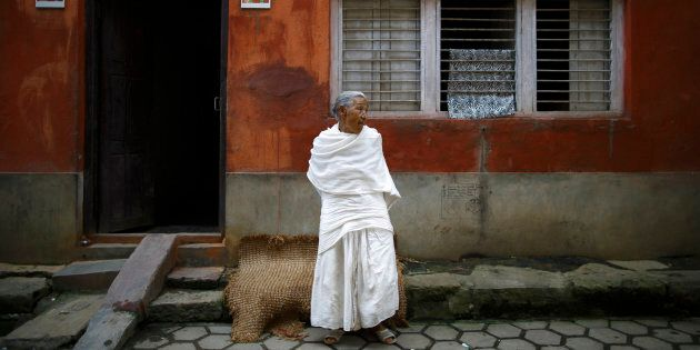 When a woman in Nepal loses her husband, she often wears white clothes. The culture also requires widowsto shun merriment andlive invirtual seclusion.