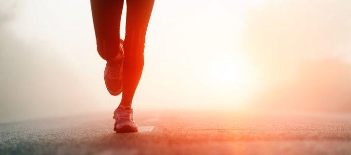 Run, jog or walk. Just get it done.
