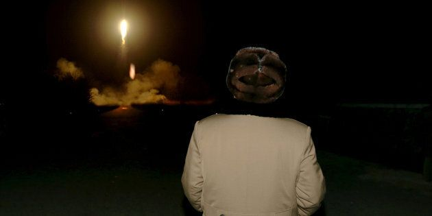 FILE PHOTO: North Korean leader Kim Jong Un watches the ballistic rocket launch drill of the Strategic Force of the Korean People's Army (KPA) at an unknown location, in this undated file photo released by North Korea's Korean Central News Agency (KCNA) in Pyongyang on March 11, 2016. KCNA/ via REUTERS/File PhotoATTENTION EDITORS - THIS PICTURE WAS PROVIDED BY A THIRD PARTY. REUTERS IS UNABLE TO INDEPENDENTLY VERIFY THE AUTHENTICITY, CONTENT, LOCATION OR DATE OF THIS IMAGE. FOR EDITORIAL USE ONLY. NOT FOR SALE FOR MARKETING OR ADVERTISING CAMPAIGNS. NO THIRD PARTY SALES. NOT FOR USE BY REUTERS THIRD PARTY DISTRIBUTORS. SOUTH KOREA OUT. NO COMMERCIAL OR EDITORIAL SALES IN SOUTH KOREA. THIS PICTURE IS DISTRIBUTED EXACTLY AS RECEIVED BY REUTERS, AS A SERVICE TO CLIENTS.