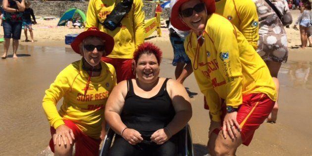 More than 40 groups of Aussies with disabilities enjoyed a day at the beach.