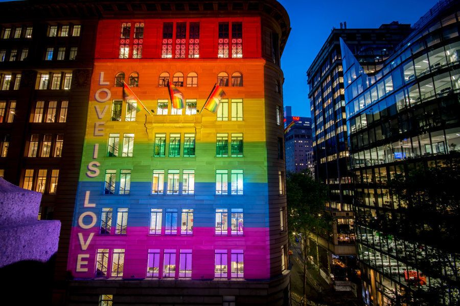 Atlassian HQ will be lit up in support of marriage equality over the next
