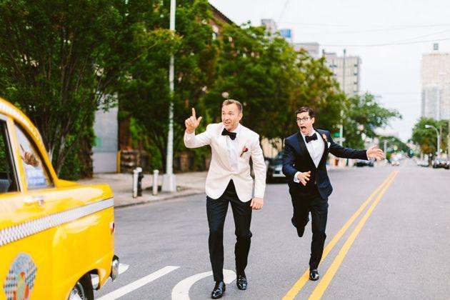 New York, 2016: Joe Murphy and Nick Smith on their wedding