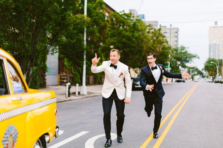 New York, 2016: Joe Murphy and Nick Smith on their wedding day.