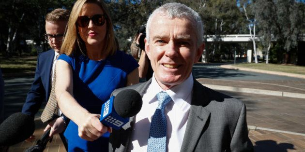 One Nation Senator Malcolm Roberts arrives at the High