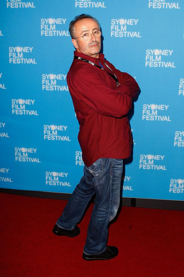 Andrew Denton said modelling might be his next career move -- at least he has the pose on point.