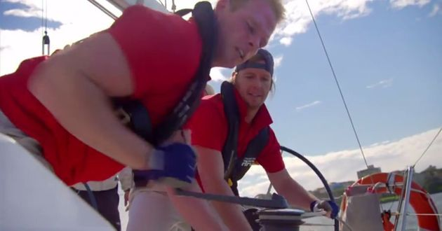Jarrod is the first man to find a way to power a boat purely from sheer competitiveness and