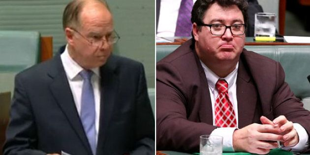 Russell Broadbent and George Christensen are having it out in