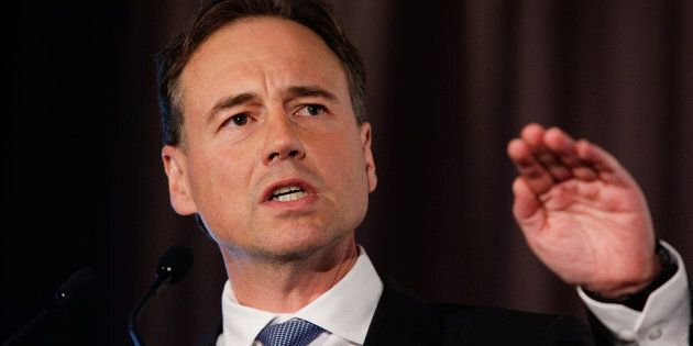 Health Minister Greg Hunt. (Photo by Lisa Maree Williams/Getty