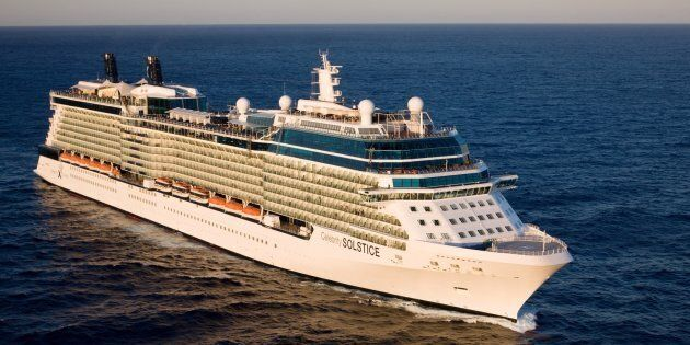 The Celebrity Solstice, one of the ships offering same-sex weddings at sea.