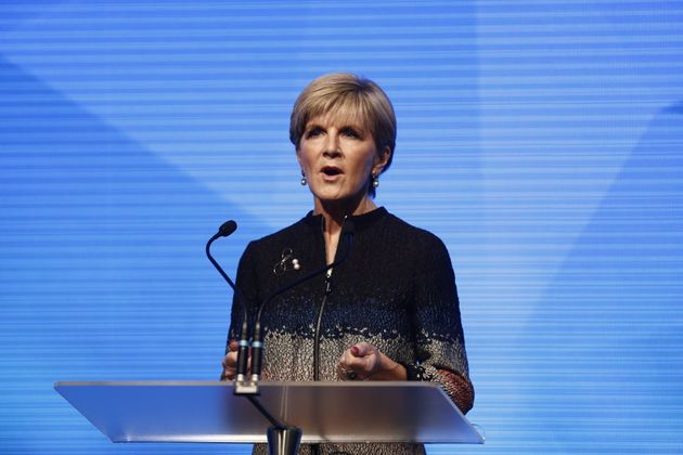Deputy Lberal Leader and foreign minister Julie Bishop addresses the