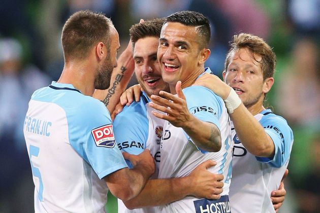He was a happy fella this week as Melbourne City beat Newcastle Jets 2-1 in the Thursday night